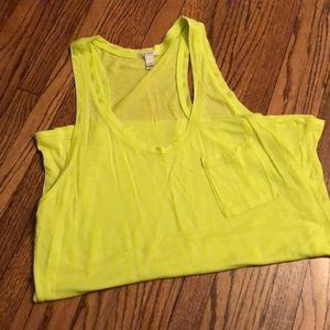 Lime colored tank